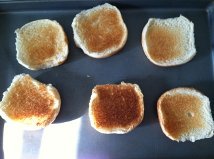 We threw a few buns in the broiler to toast them.