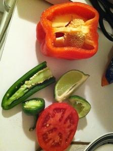 fresh ingredients! yum.