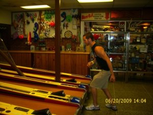 skee ball (though not actually at the atlas)