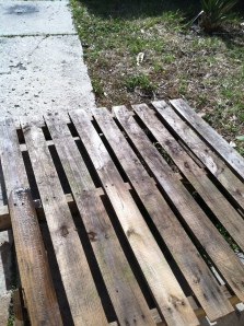 the pallet
