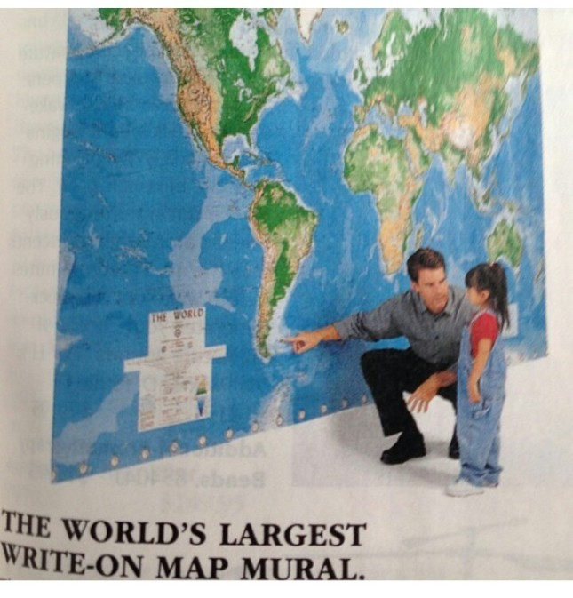 sky mall world's largest map