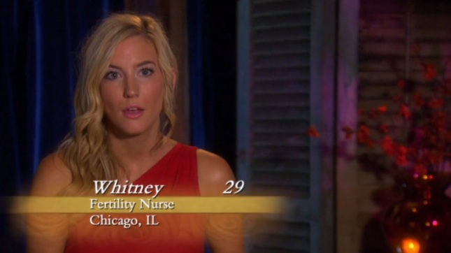 Whitney the bachelor