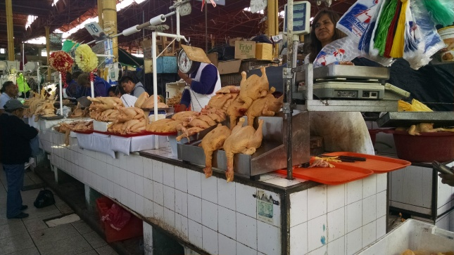 chickens in the market