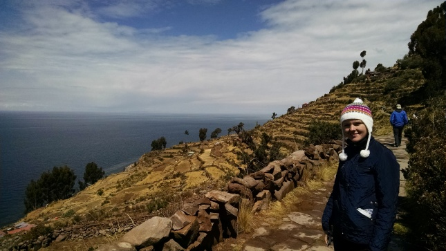 lake titicaca from taquile island