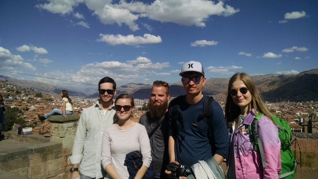 our walking tour group: us, a couple of russians, and a norwegian